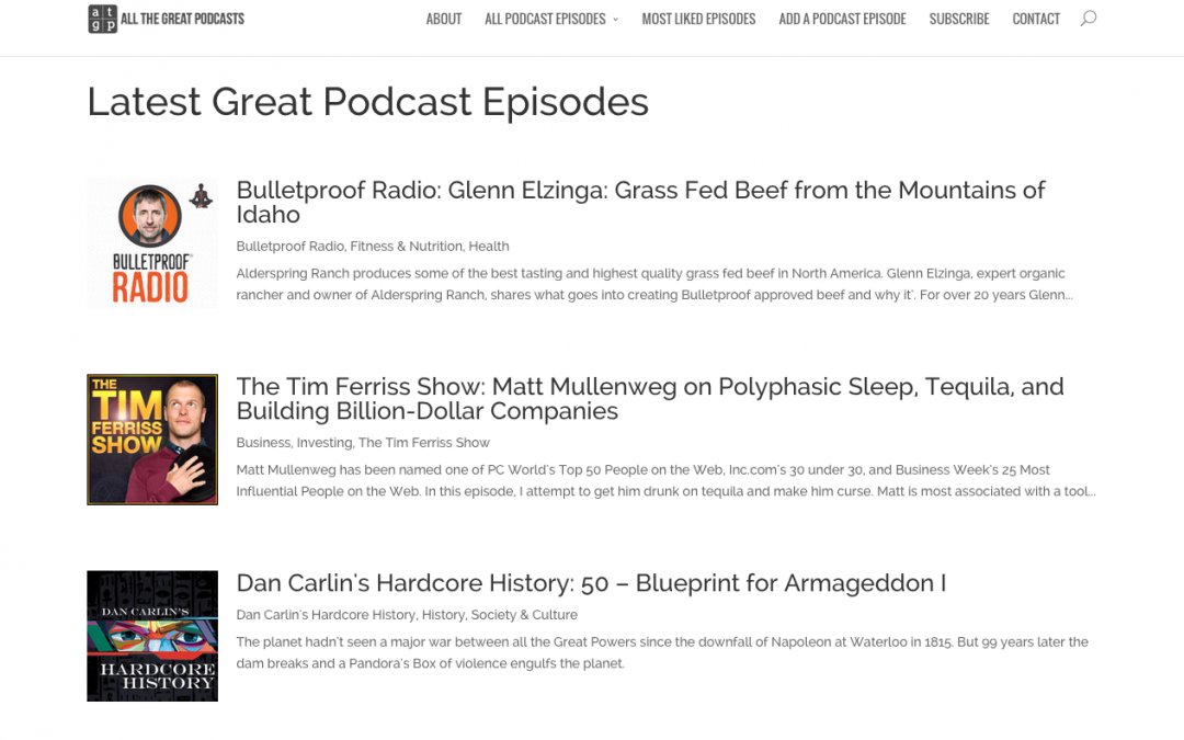 All the Great Podcasts