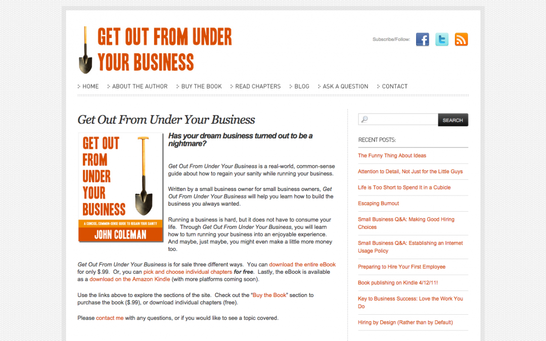 Get Out From Under Your Business